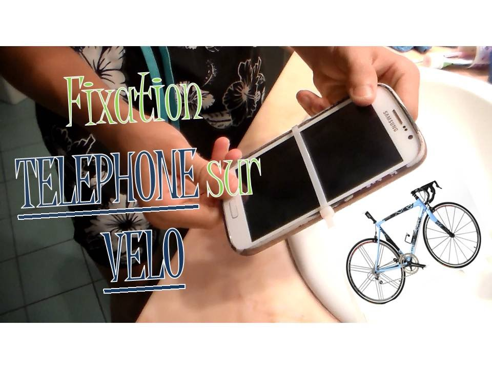 Support telephone pour velo